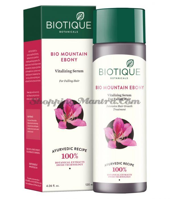 Сыворотка для роста волос Биотик Горный эбонит | Biotique Bio Mountain Ebony Vitalizing Serum