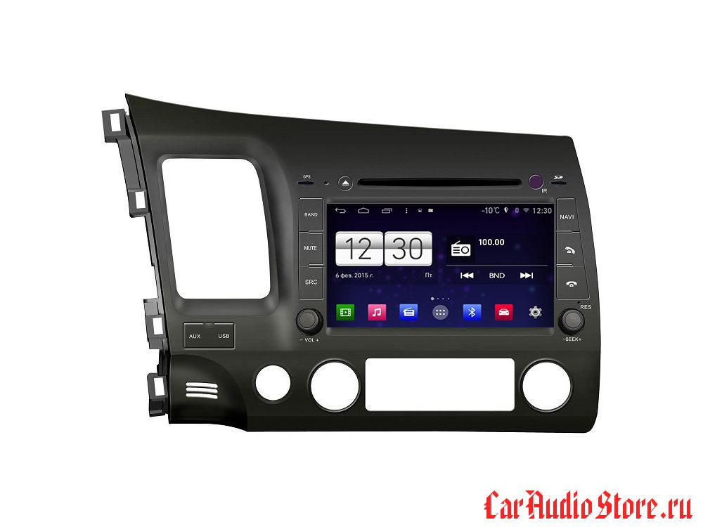 FarCar s160 для Honda Civic 2007-2012 на Android (m044)