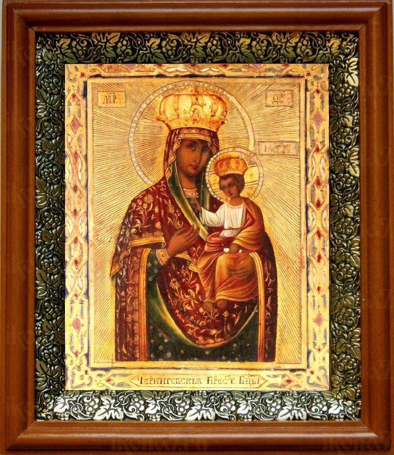 Ильинско-Черниговская икона БМ (19х22), светлый киот