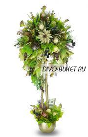 """Денежное дерево с конфетами №663 """"Берёзка"""""""