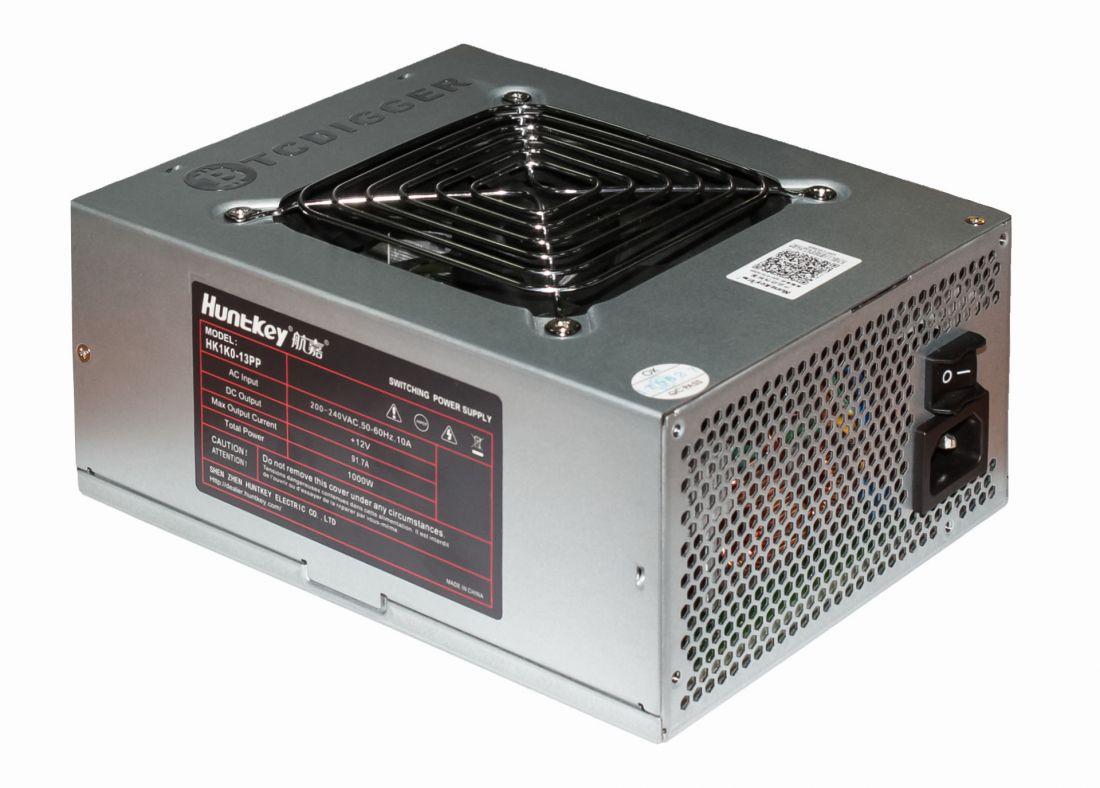 Блок питания для майнинга HuntKey HK1K0-13PP BTCDIGGER gold-platina 1000W 200-240VAC 50-60Hz +12V 91.7Amax 6x8pin