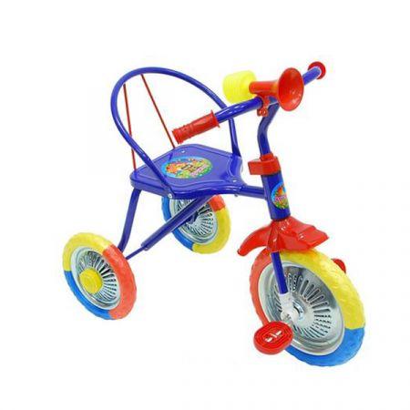 Велосипед трехколесный металл., колеса 8' и 6' цвета в ассорт. оборудован гудком