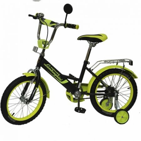 "Велосипед ""Lamborghini""страх. колёса,передние ручные тормоза, диаметр колес 16"""