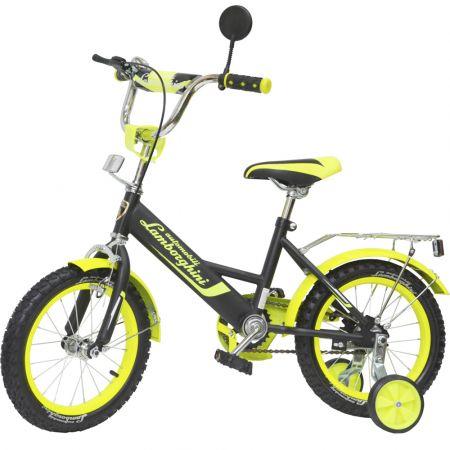 """Велосипед """"Lamborghini""""страх. колёса (диаметр 10,5 см), передние ручные тормоза, диаметр колес 14""""с"""