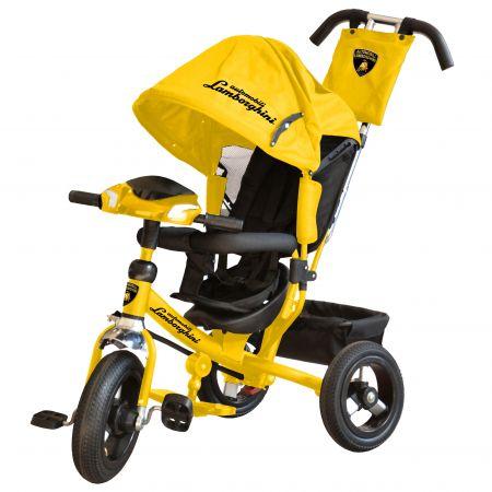 Велосипед 3-хколес. Lamborghini с фарой со свет. и звук. сигналами, ключами зажигания(цвет : желтый)