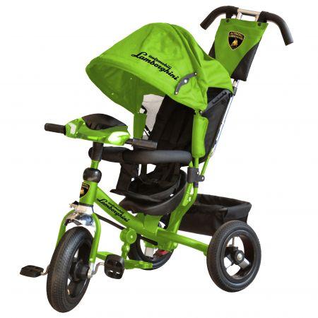Велосипед 3-хколес. Lamborghini с фарой со свет. и звук.сигналами,ключами зажигания(цвет : зеленый)
