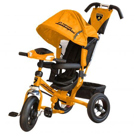 Велосипед 3-хколес. Lamborghini с фарой со свет. и звук.сигналами,ключами зажигания(цвет: оранжевый)