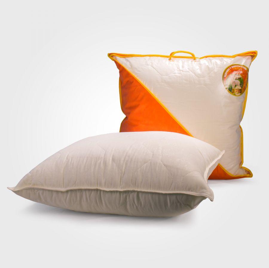 Подушка овечья шерсть-микрофибра