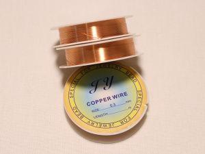 `Проволока 0,3 мм*12м, розовое золото