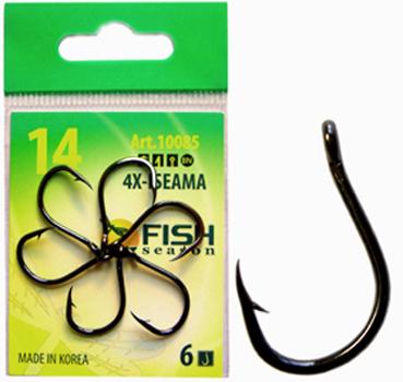 Крючок Fish Season 4X-Iseama-Ring одинарные покрытие BN  (Артикул:10085) №8