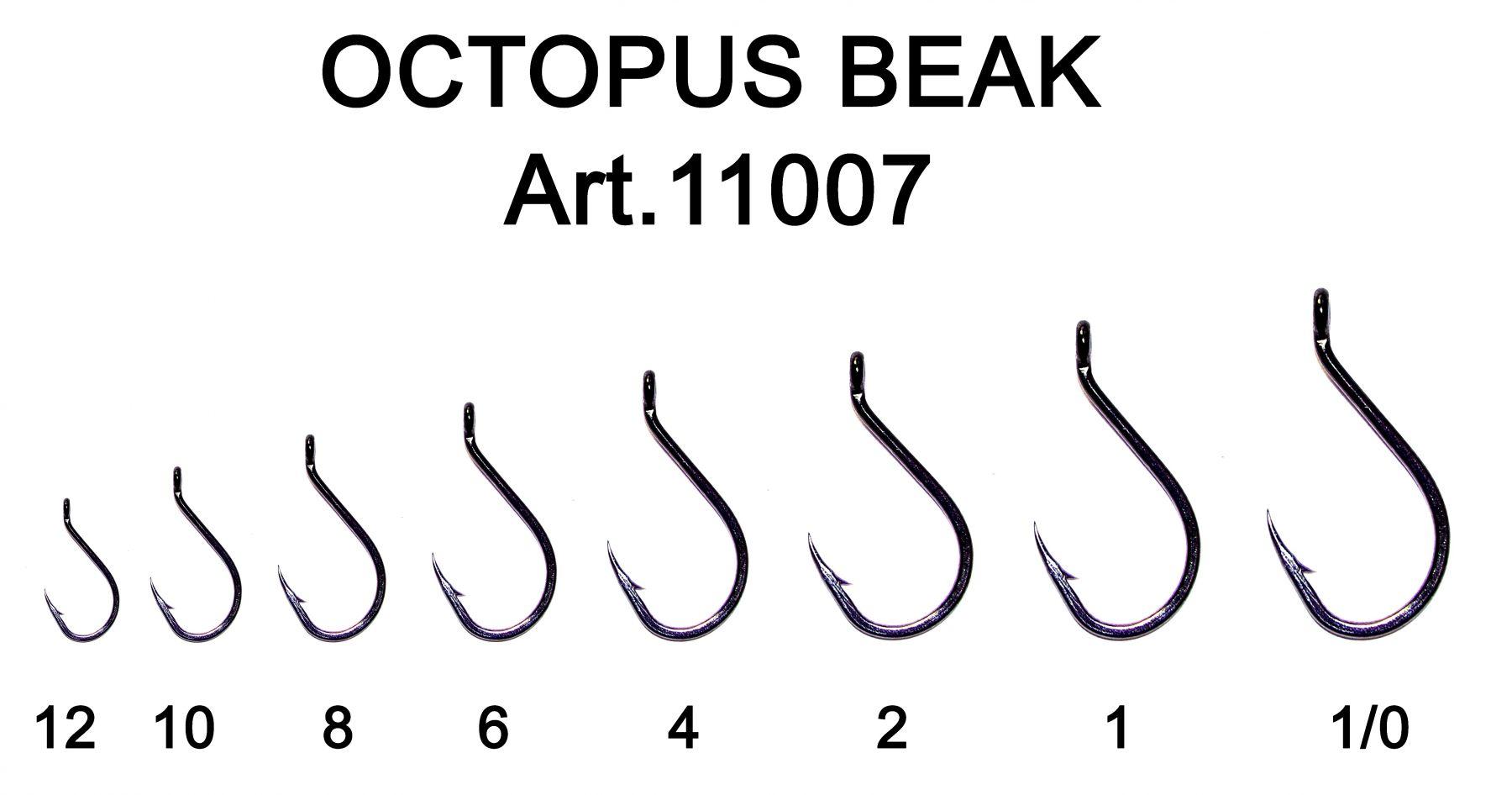Крючок Fish Season Octopus Beak одинарные с ушком, покрытие BN  (Артикул:11007) №1/0