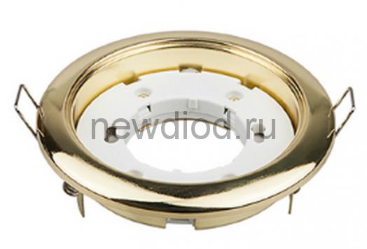 Светильник встраиваемый GX53R-standard металл под лампу GX53 230В золото IN HOME