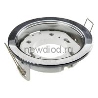 Светильник встраиваемый mini GX53R-RC ультратонкий металл под лампу GX53 230В хром IN HOME
