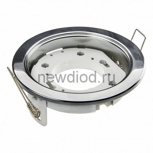 Светильник встраиваемый GX53R-mini ультратонкий металл под лампу GX53 230В хром IN HOME