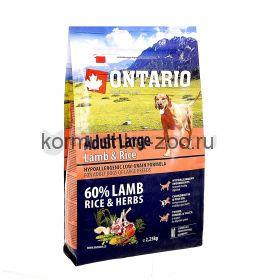Ontario для собак крупных пород с ягненком, индейкой и рисом