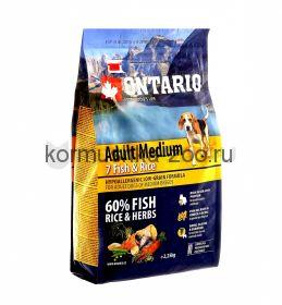 Ontario для собак с 7 видами рыб и рисом