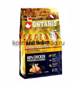 Ontario для собак с курицей и картофелем