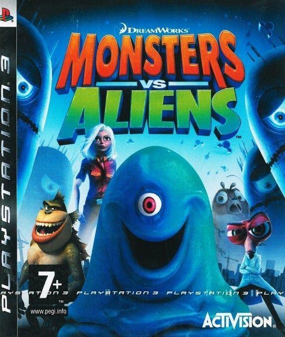 Игра Monsters vs. Aliens (PS3)