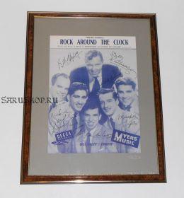 Автографы: Билл Хейли и Кометы / Bill Haley & His Comets. 1953 год. Редкость.