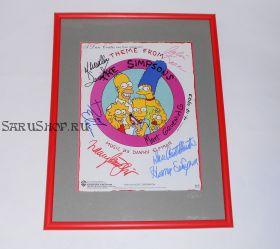 Автографы: Симпсоны (The Simpsons) 6 подписей. 1993 год. Редкость.