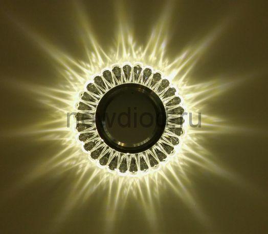 Точечный Светильник OREOL Crystal 7301 97/60mm Под Лампу MR16 Белый