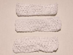 Повязка ажурная, 45 мм, цвет №01 белый (1 уп = 12 шт), Арт. ПВ0045-01