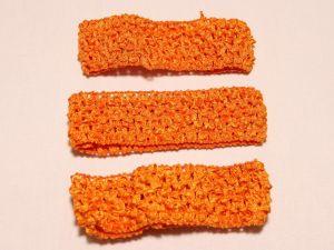 Повязка ажурная, 45 мм, цвет №15 оранжевый (1 уп = 12 шт), Арт. ПВ0045-15