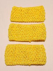 Повязка ажурная, 70 мм, цвет №04 желтый (1 уп = 12 шт), Арт. ПВ0046-04