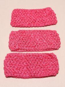 Повязка ажурная, 70 мм, цвет №09 ярко-розовый (1 уп = 12 шт), Арт. ПВ0046-09