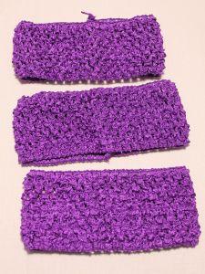 Повязка ажурная, 70 мм, цвет №13 фиолетовый (1 уп = 12 шт)