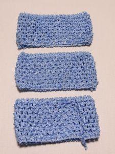 Повязка ажурная, 70 мм, цвет №24 светло-синий (1 уп = 12 шт), Арт. ПВ0046-24