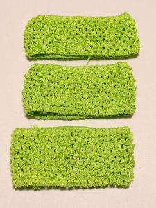 Повязка ажурная, 70 мм, цвет №29 зеленый (1 уп = 12 шт)