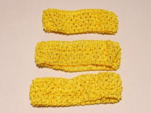 `Повязка ажурная, 45 мм, цвет №04 желтый