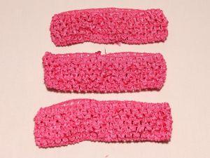 `Повязка ажурная, 45 мм, цвет №09 ярко-розовый