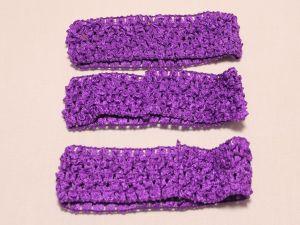 `Повязка ажурная, 45 мм, цвет №13 фиолетовый