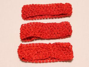 `Повязка ажурная, 45 мм, цвет №14 красный