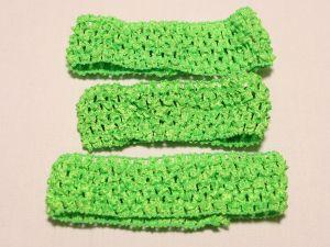 `Повязка ажурная, 45 мм, цвет №35 зеленый кислотный