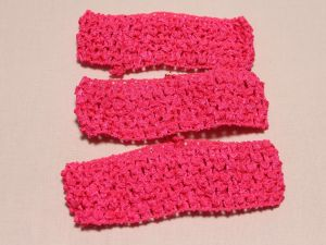 `Повязка ажурная, 45 мм, цвет №37 розовый кислотный