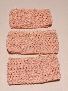 `Повязка ажурная, 70 мм, цвет №06 персиковый