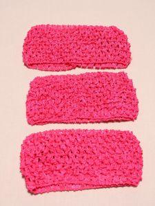 `Повязка ажурная, 70 мм, цвет №37 розовый кислотный