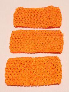 `Повязка ажурная, 70 мм, цвет №38 оранжевый кислотный