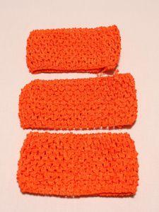 `Повязка ажурная, 70 мм, цвет №39 ярко-оранжевый кислотный