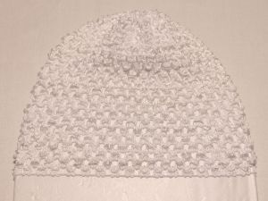 `Шапка ажурная, 14*15 см, цвет №01 белый