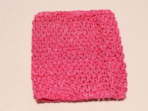 `Повязка ажурная, 14*15 см, цвет №09 ярко-розовый