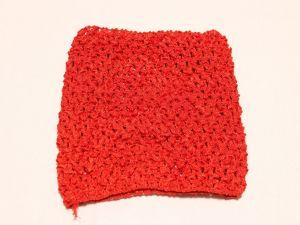 `Повязка ажурная, 14*15 см, цвет №14 красный