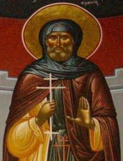 Авраамий Кратейский (рукописная икона)