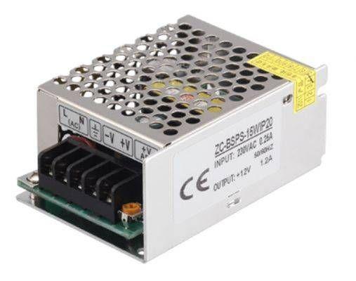 Блок питания для светодиодных лент Jazzway 12V 15W 1.3A IP20 (интерьерный) BSPS-12V1.3A 15W .3329358