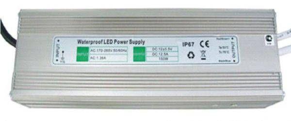 Блок питания для светодиодных лент Ecola 12V 100W IP67 189х72х43 (герметичный) B7L100ESB