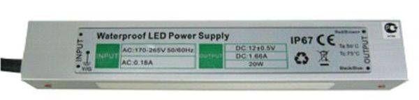 Блок питания для светодиодных лент Ecola 12V 30W IP67 217х29х21 (герметичный) B7L030ESB