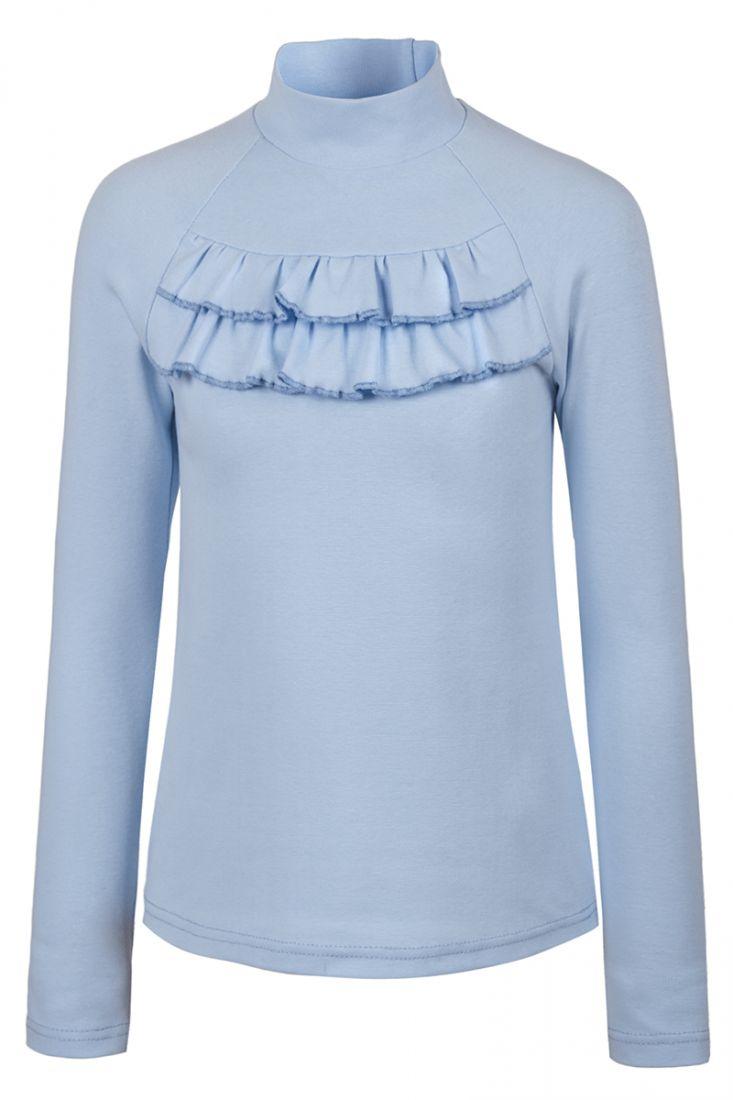 Блузка голубая с длинным рукавом